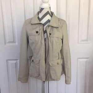 Zara light khaki army jacket L